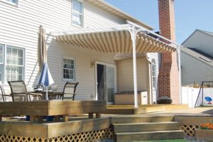 Betterliving Retractable Canopies u2013 A very flexible u2013 and beautiful u2013 option for keeping you in the shade. Use it to cover a veranda a place near the pool ... & Betterliving Awnings | York | Harrisburg | Lancaster | Garrety Glass