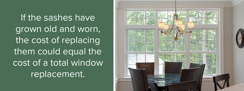 granted if you live in a vintage house replacing the original windows with modern could compromise its market value