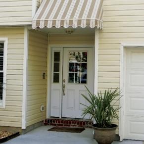 door-with-stripped-awning